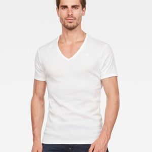 NWOT G-Star Raw White T-Shirt Short Sleeve Size L